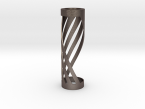 The Twisted Wick in Polished Bronzed Silver Steel