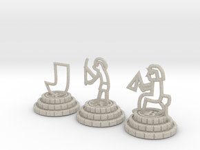 Chess set of Egypt(R,N,B) in Natural Sandstone