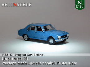 Peugeot 504 (N 1:160) in Smooth Fine Detail Plastic