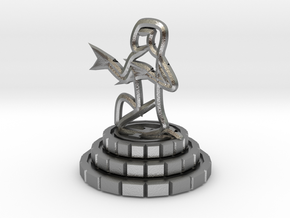 Pawn of chess in Natural Silver