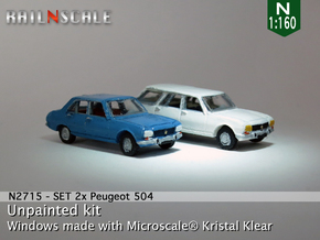 SET 2x Peugeot 504 (N 1:160) in Frosted Ultra Detail