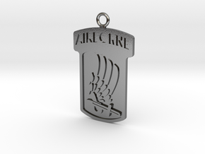 173rd Airborne Pendant in Polished Silver