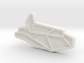Ship #3 in White Natural Versatile Plastic