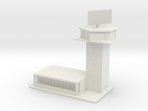 1/600 Control Tower And RADAR in White Natural Versatile Plastic