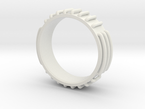 Sci-fi Ring Concept Size 10 in White Natural Versatile Plastic