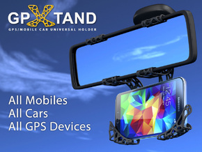 GPXtand - Universal Mobile and GPS Car Holder in Black Natural Versatile Plastic