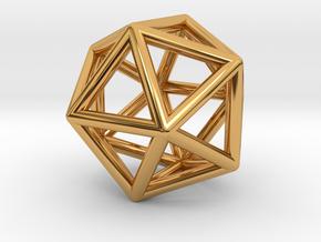 Geometry Pendant in Polished Bronze Steel