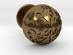 Button Cuff in Natural Bronze