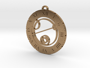 Keith - Pendant in Natural Brass