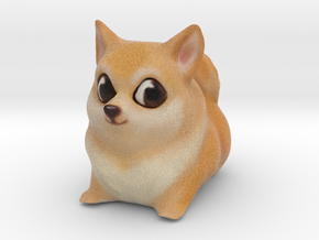 Cartoon Doge in Full Color Sandstone