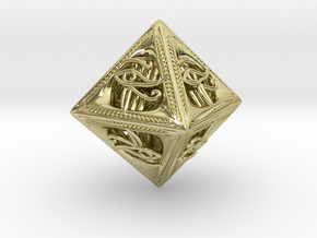 Millennium Dice in 18k Gold