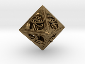 Millennium Dice in Natural Bronze