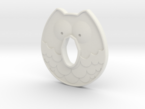 Cold Steel Bokken Tsuba - Owl in White Natural Versatile Plastic