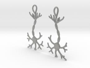 Neuron Earrings (Pair) in Metallic Plastic