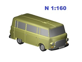 Barkas (N, 1:160) in Frosted Ultra Detail