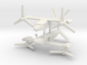 1/285 Bell V-280 Valor (x2) (Utility) in White Strong & Flexible