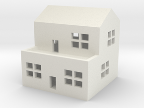 1/600 Town House 2 in White Natural Versatile Plastic