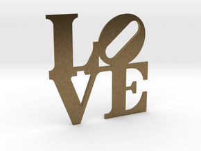 The Love Sculpture miniature in Natural Bronze