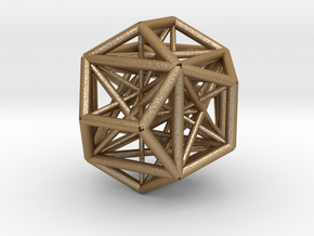 MorphoHedron8 in Matte Gold Steel