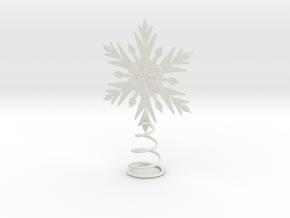 Elsa Snowflake Tree Topper  in White Natural Versatile Plastic
