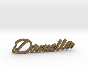 Daniella Name Pendant in Natural Bronze