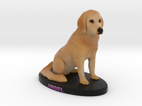 Custom Dog Figurine - Angel in Full Color Sandstone
