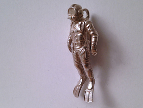 Commercial Diver 55mm in Natural Silver