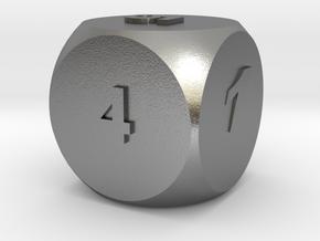 Multi-coloured Dice v1.0 in Natural Silver