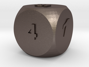 Multi-coloured Dice v1.0 in Polished Bronzed Silver Steel