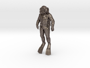 Commercial Diver 55mm in Polished Bronzed Silver Steel