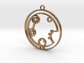 Caroline - Necklace in Natural Brass