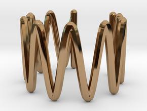 Ear Cuff in Polished Brass