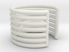 Ear Cuff - rods in White Natural Versatile Plastic