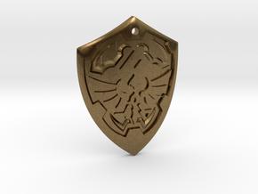 Hylian Shield - Legend of Zelda in Natural Bronze