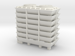 Cooling Tower - HOscale in White Natural Versatile Plastic