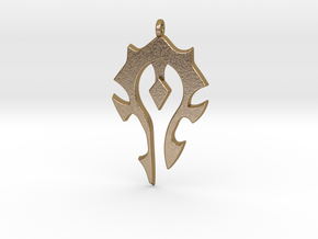 Horde Necklace - World Of Warcraft in Polished Gold Steel