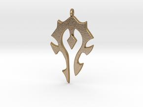 Horde Necklace - World Of Warcraft in Polished Gold Steel