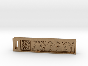 ZWOOKY Keyring 6cm 6mm in Natural Brass
