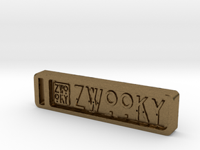 ZWOOKY Keyring 12 rounded 6cm 6mm in Natural Bronze