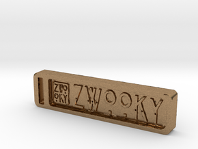 ZWOOKY Keyring 12 rounded 6cm 6mm in Natural Brass