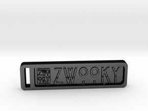 ZWOOKY Keyring 34 rounded 5cm 4.5mm in Matte Black Steel