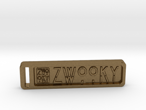 ZWOOKY Keyring 34 rounded 5cm 4.5mm in Natural Bronze