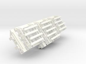 1-16 M10 Grouser Rack 2 Parts in White Processed Versatile Plastic