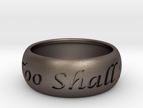 This Too Shall Pass, custom ring size in Stainless Steel