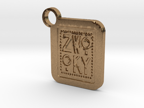 ZWOOKY Keyring LOGO 34 3cm 2.5mm in Natural Brass