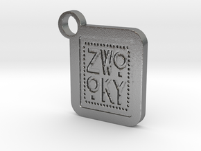 ZWOOKY Keyring LOGO 34 5cm 6mm in Natural Silver