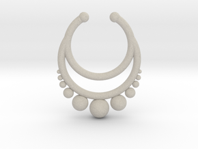 Septum dropped ring with spheres under in Natural Sandstone