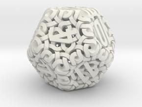 Ring d12 in White Natural Versatile Plastic