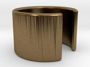 Simple Ear Cuff in Natural Bronze