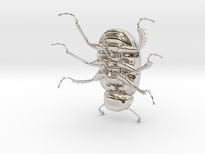 Dung Beetle in Platinum